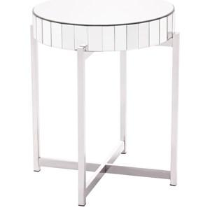 Mirrored X Circular End Table