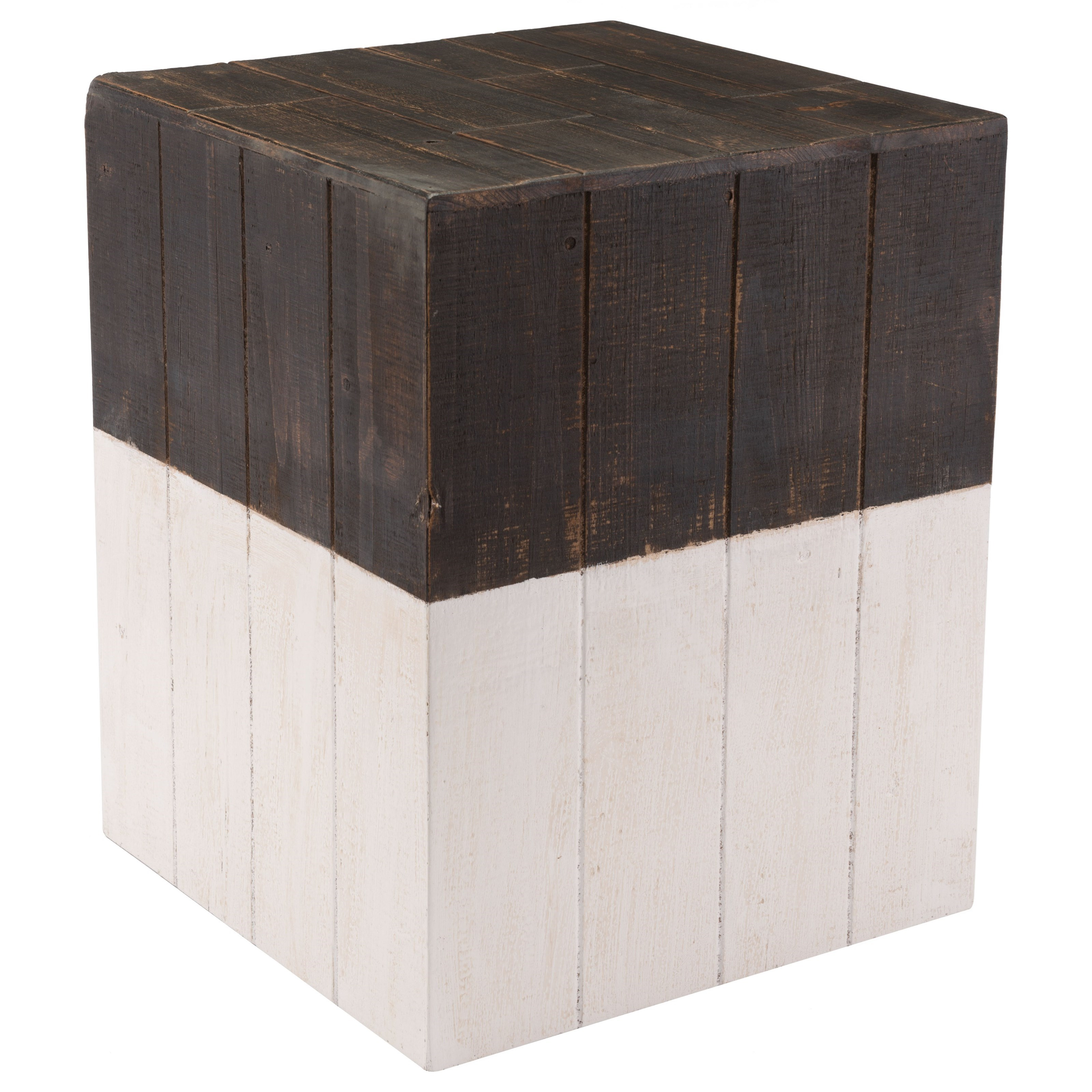 Accent Tables Wooden Square Garden Seat by Zuo at Nassau Furniture and Mattress