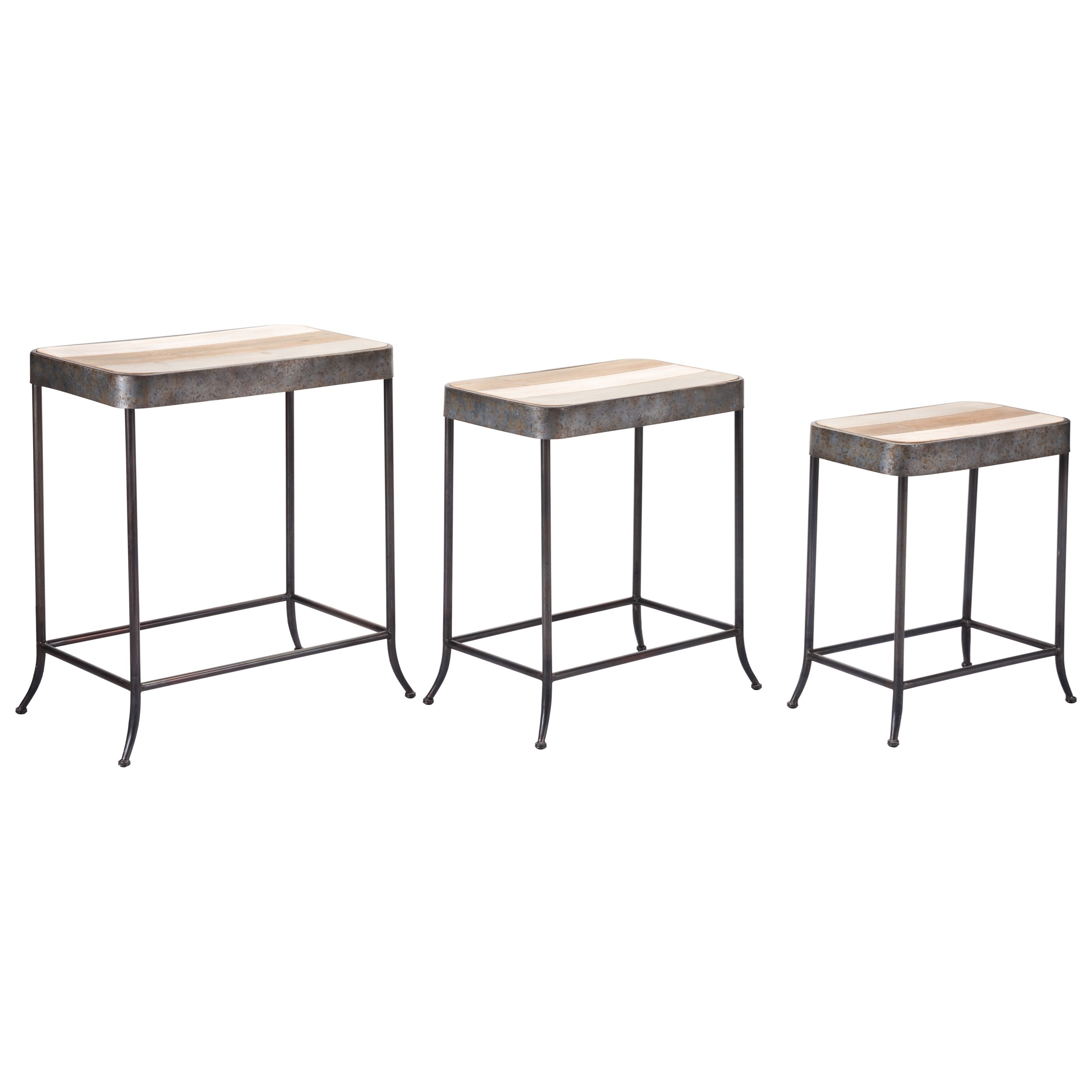 Zuo Accent Tables Set of 3 Multicolor Tables - Item Number: A10659
