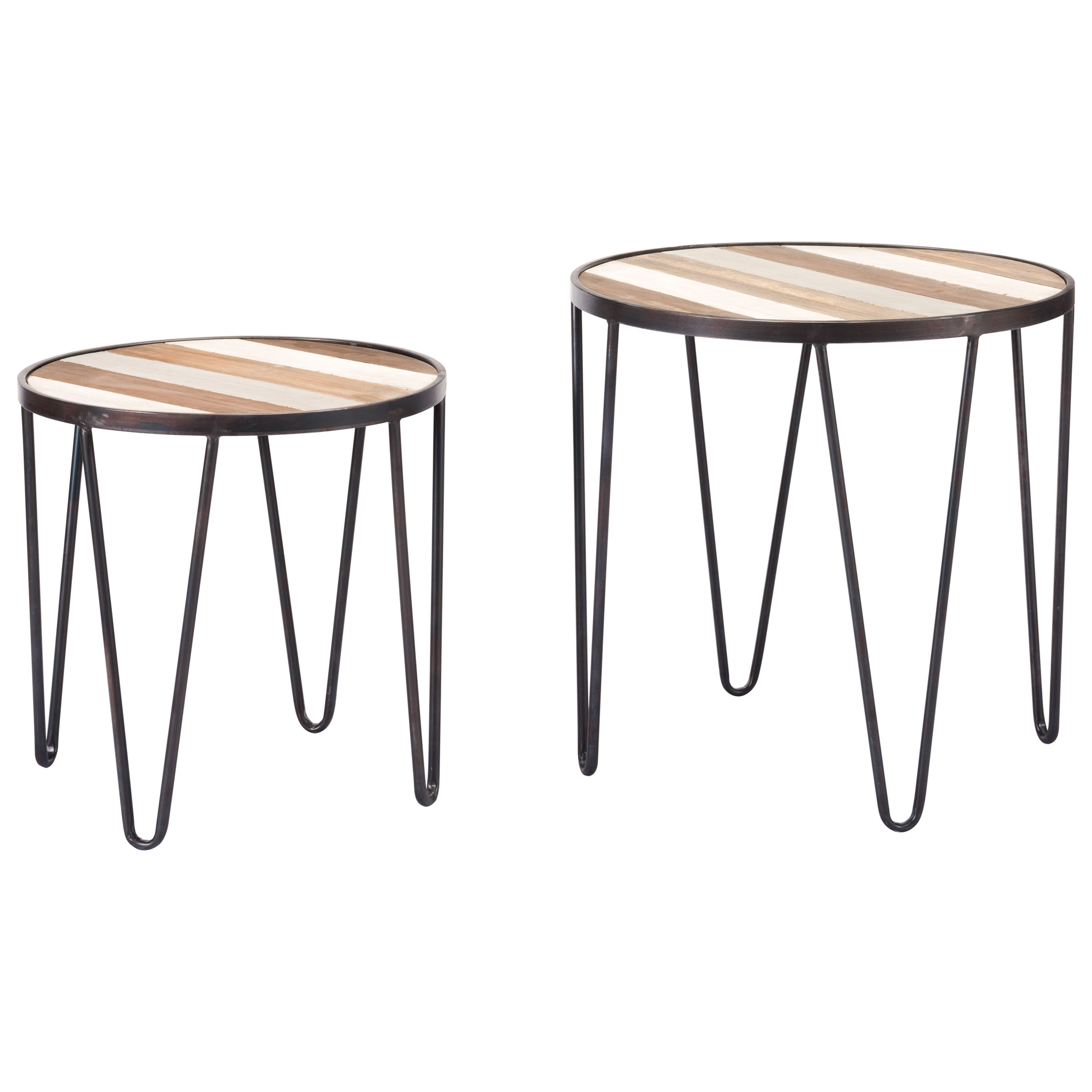 Zuo Accent Tables Set of 2 Multicolor Tray Tables - Item Number: A10661