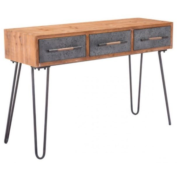Accent Tables Metal Console Table by Zuo at Nassau Furniture and Mattress