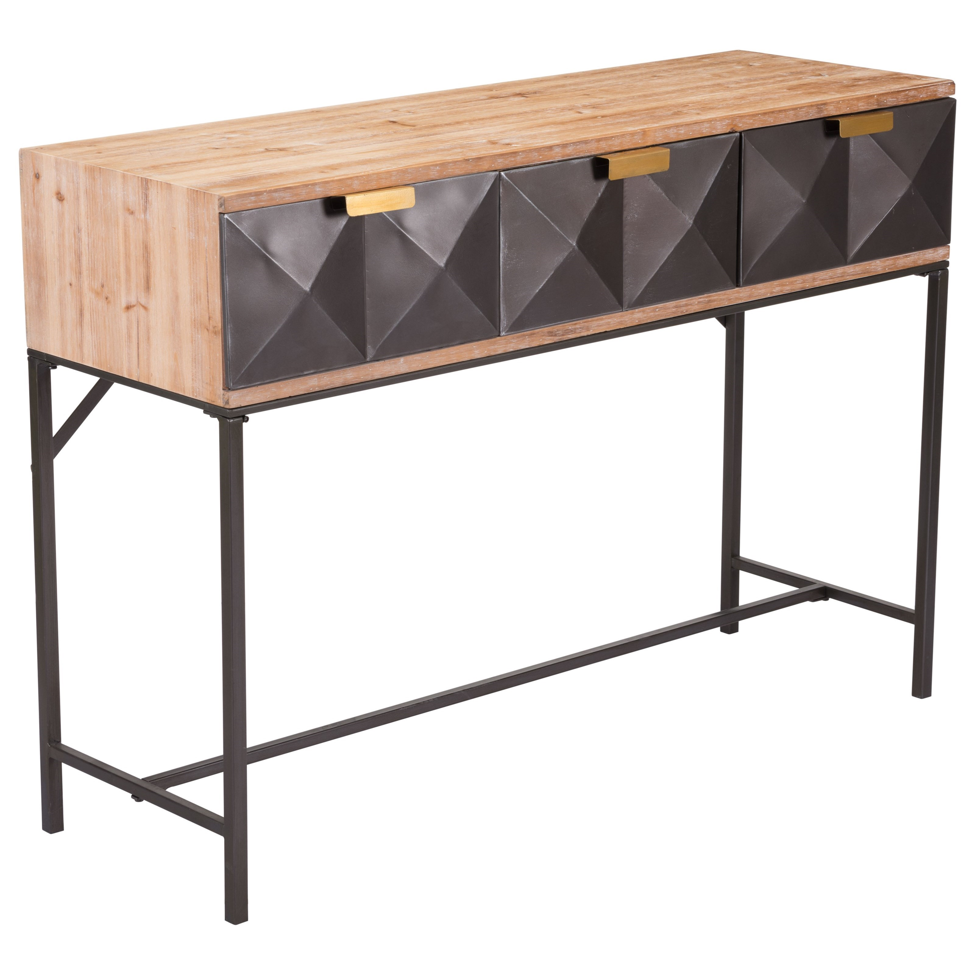 Accent Tables Black Console Table by Zuo at Nassau Furniture and Mattress