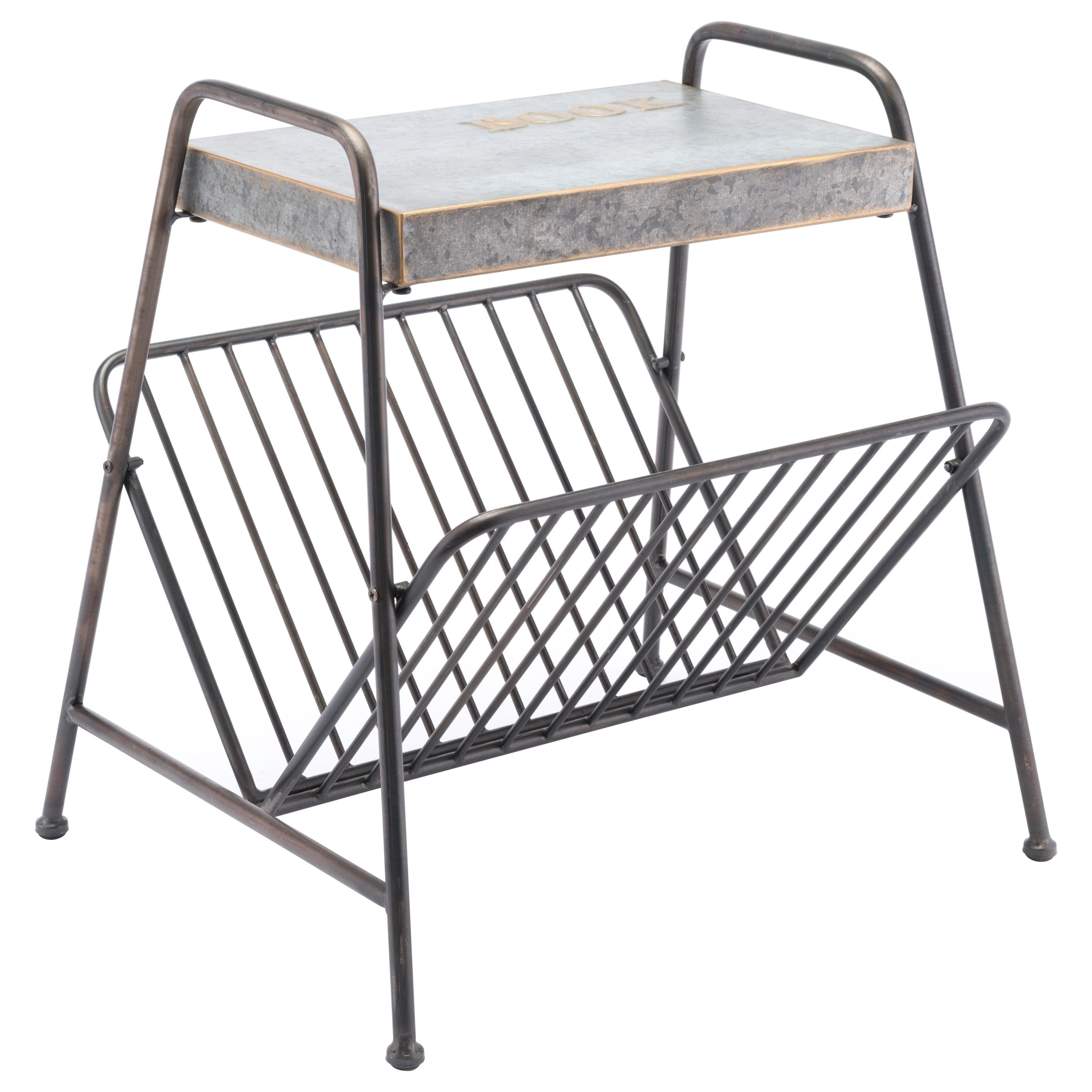 Zuo Accent Tables Metal Magazine Rack - Item Number: A10708