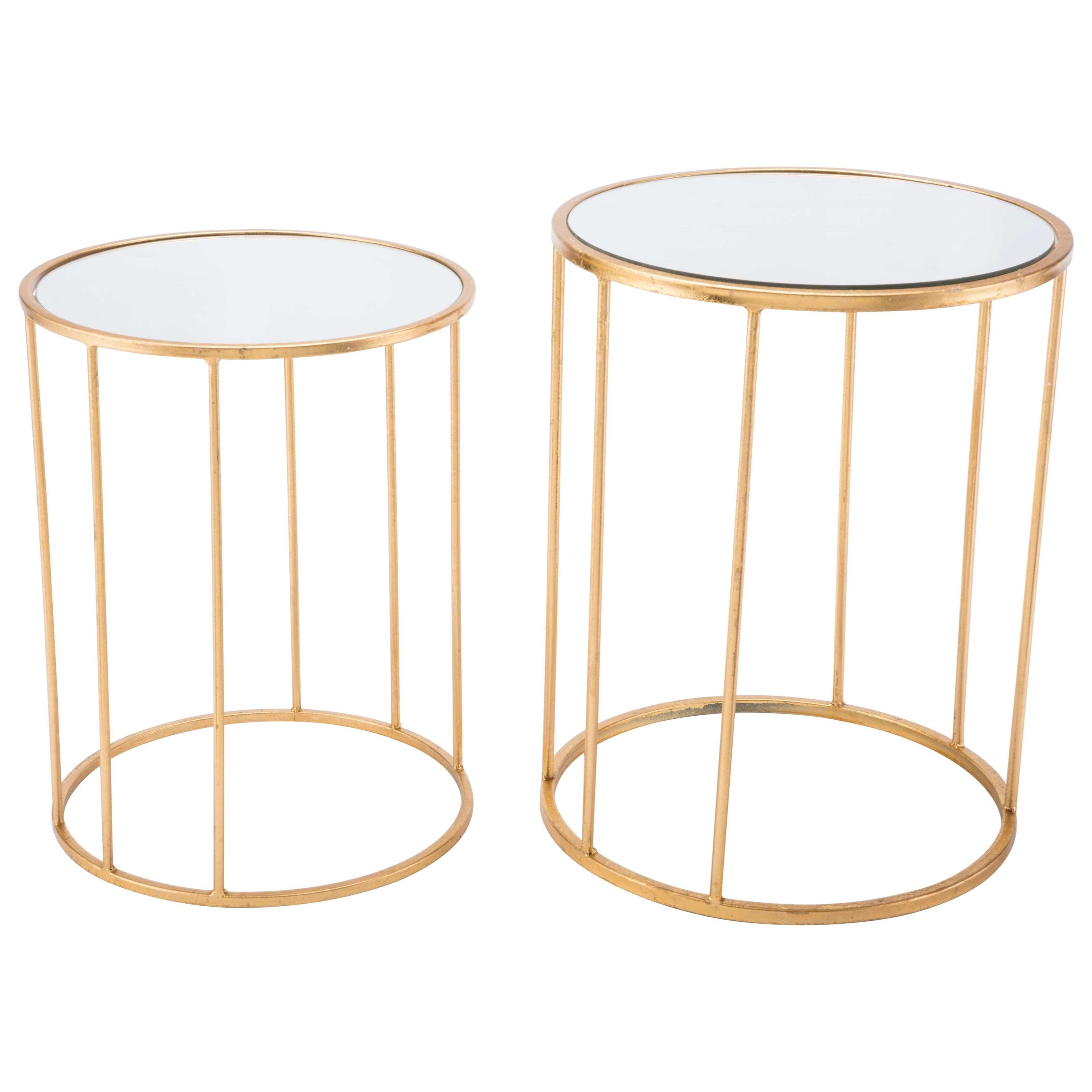 Zuo Accent Tables Finita Set 2 Nesting Round Tables - Item Number: A10762