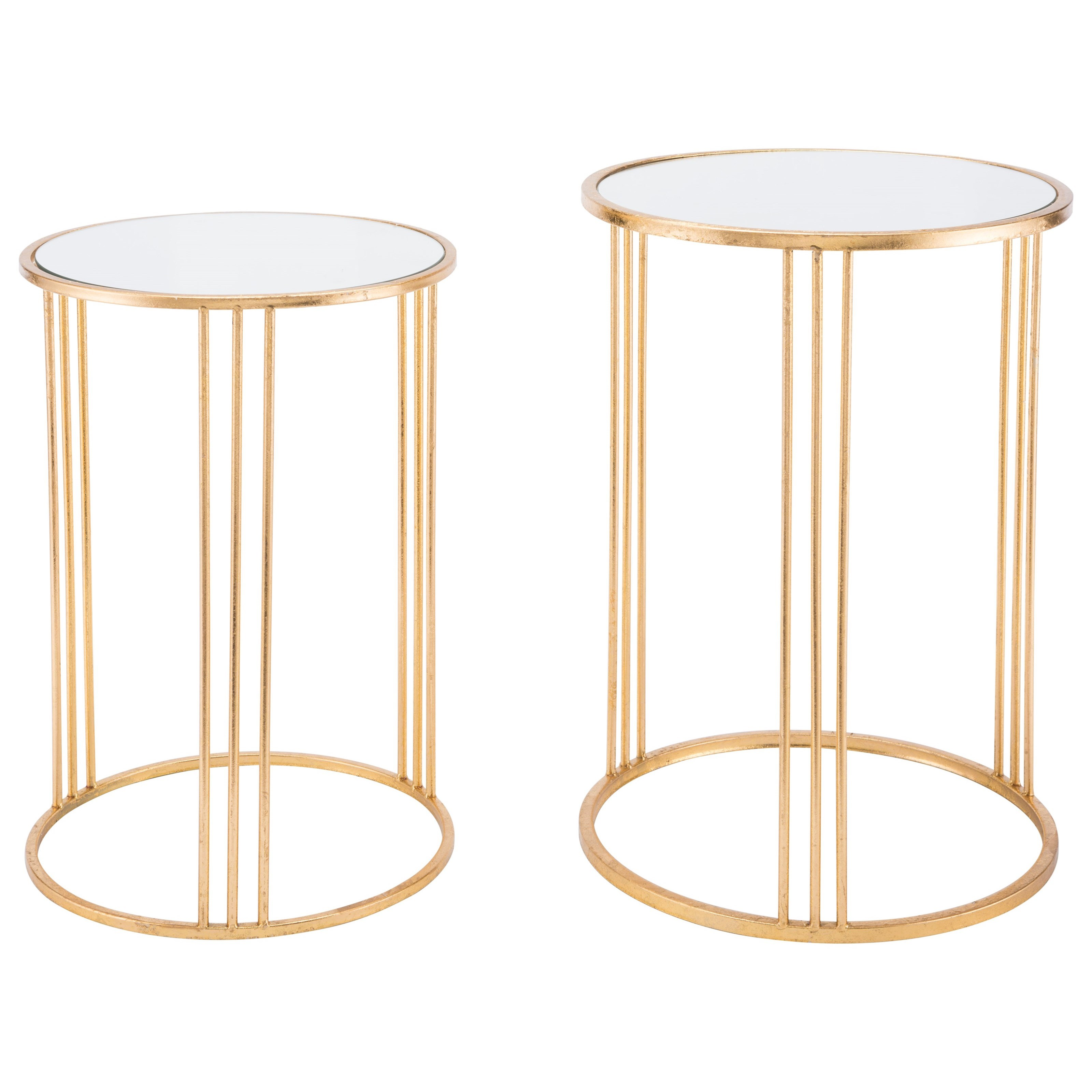 Zuo Accent Tables Magri Set 2 Nesting Round Tables - Item Number: A10763