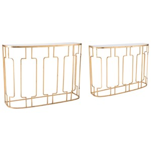 Roma Set of 2 Console Tables