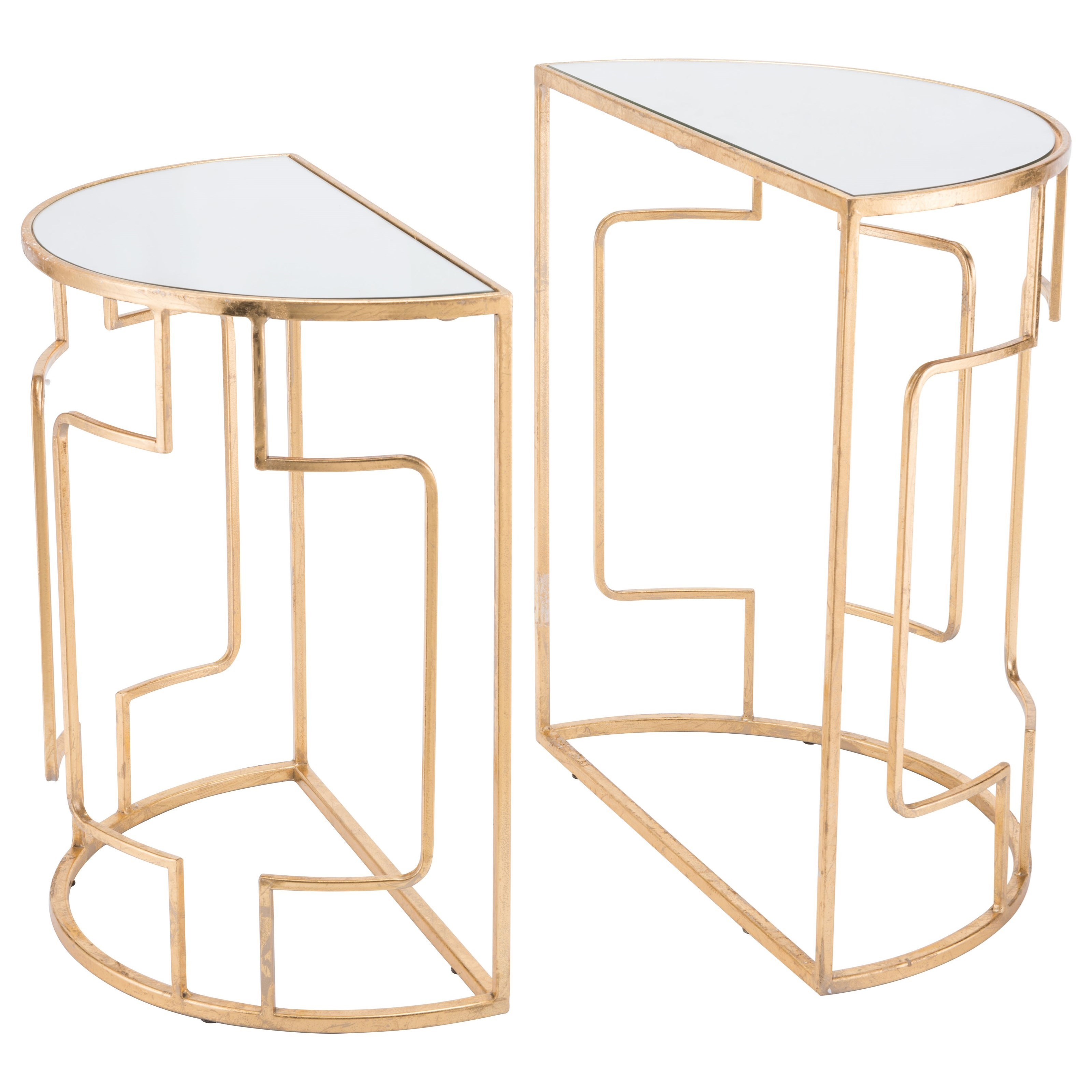 Accent Tables Roma Set of 2 Side Tables by Zuo at Nassau Furniture and Mattress