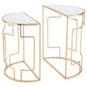 Zuo Accent Tables Roma Set of 2 Side Tables - Item Number: A10781
