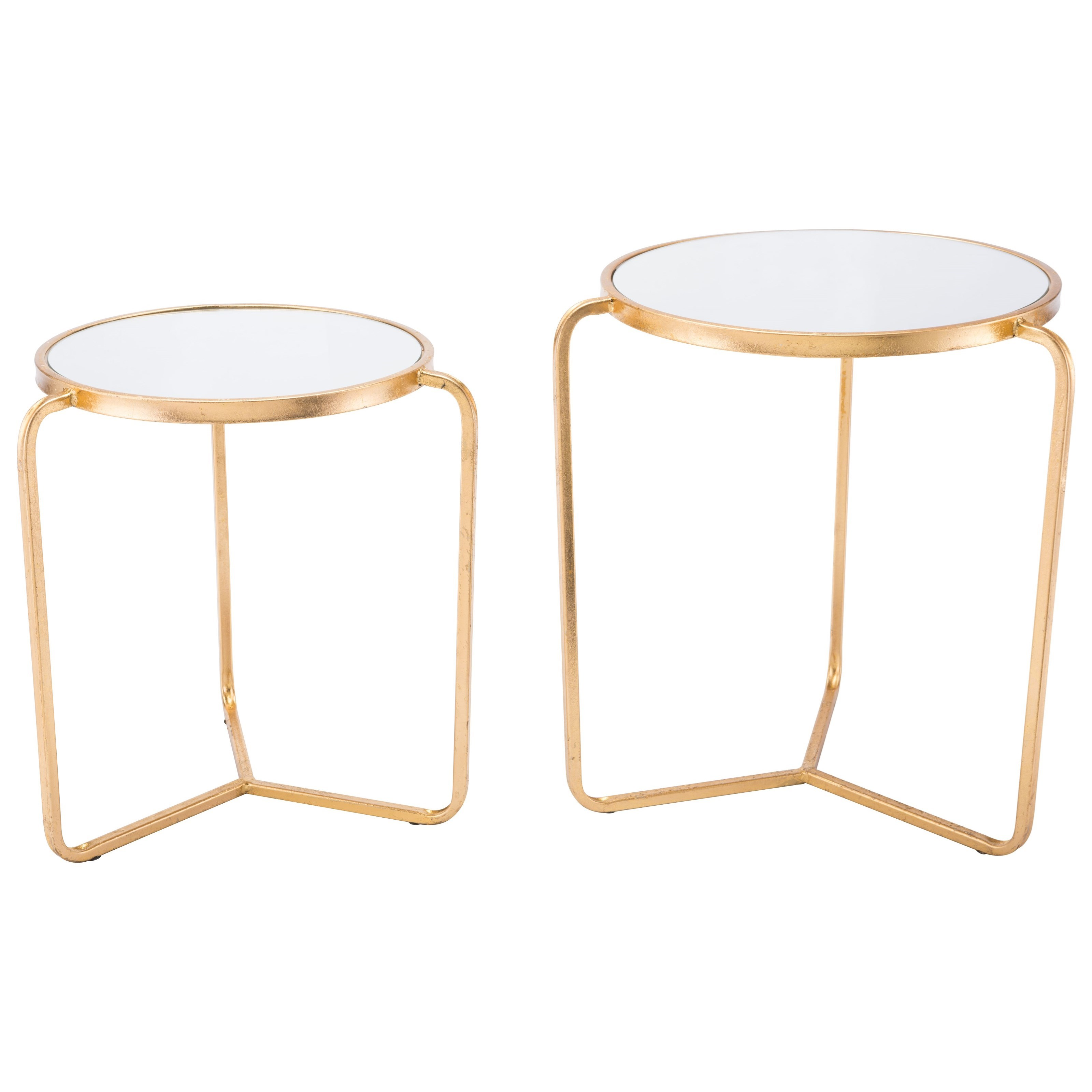 Zuo Accent Tables Set of 2 Tripod Tables - Item Number: A10782