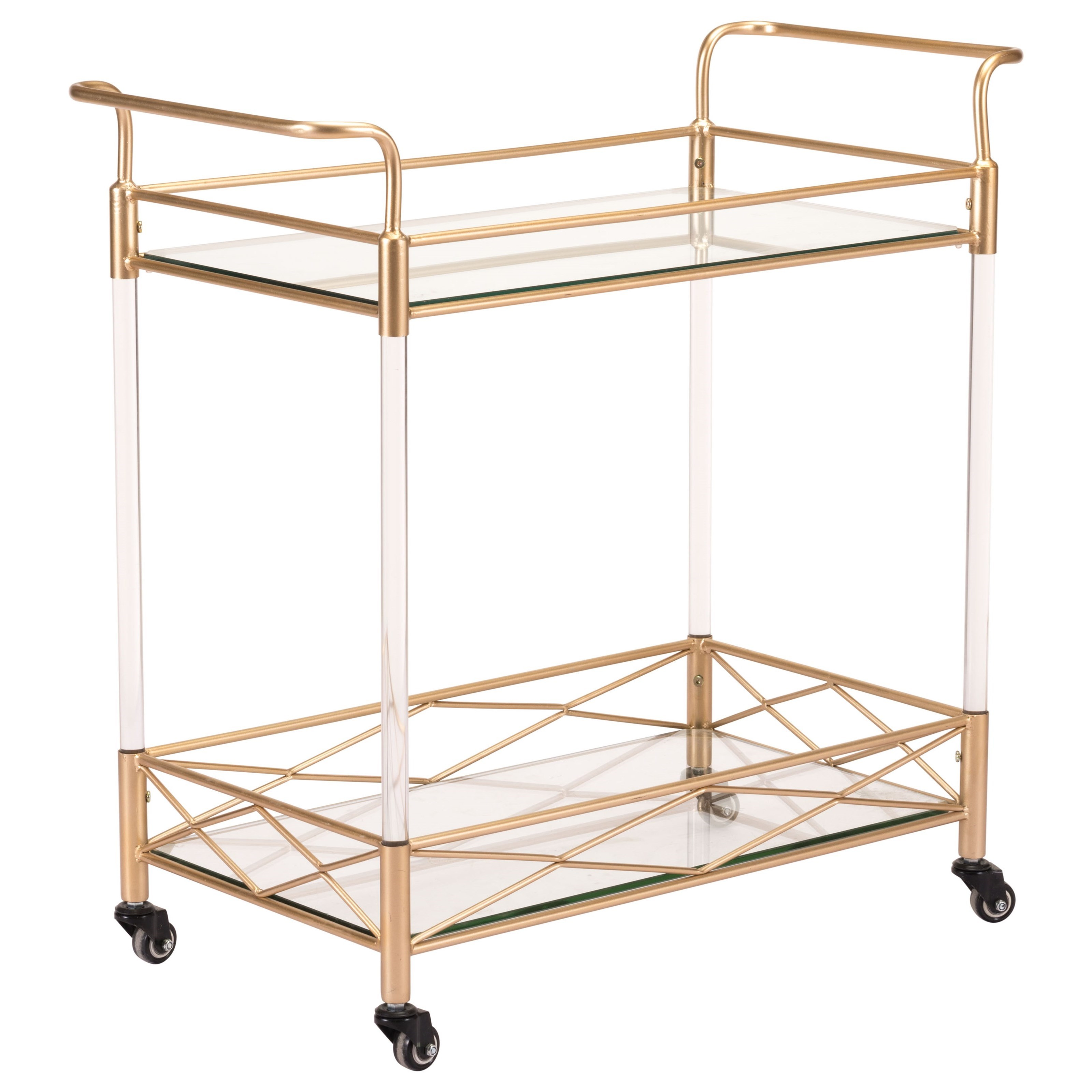 Zuo Accent Tables Lucite Bar Cart - Item Number: A10809