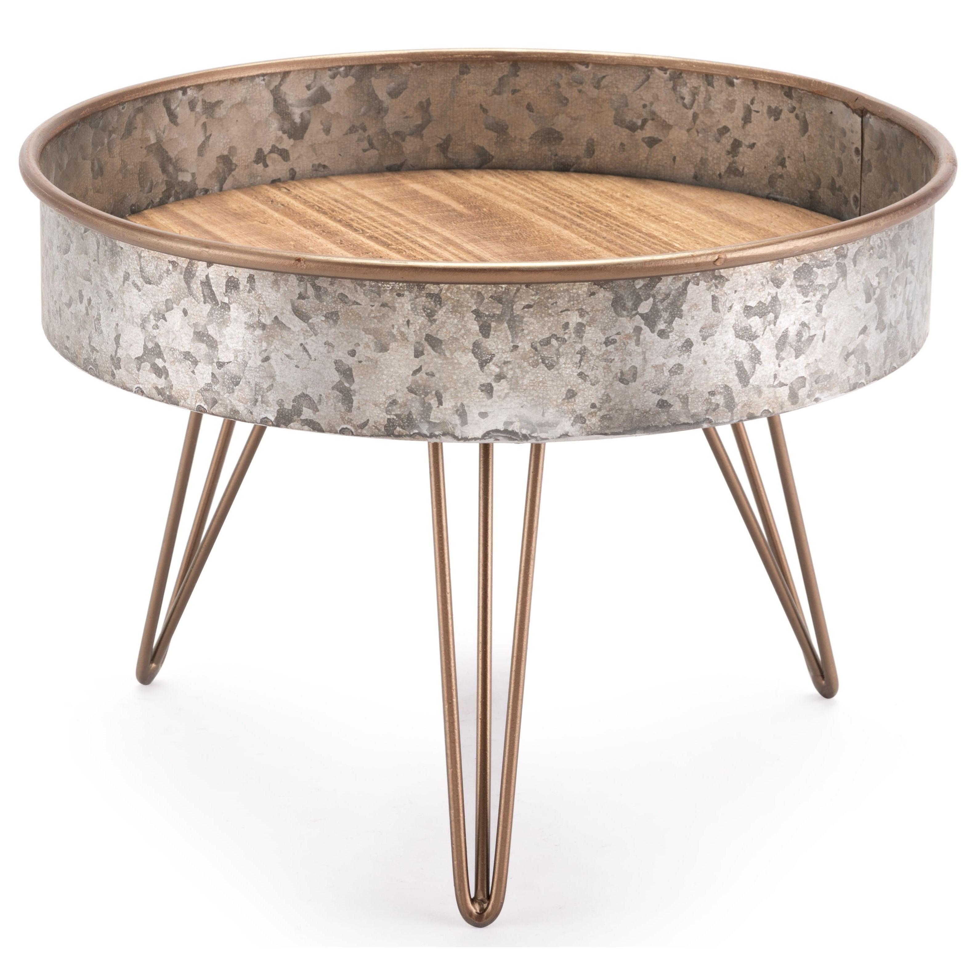 Zinc Round Tray Table Medium