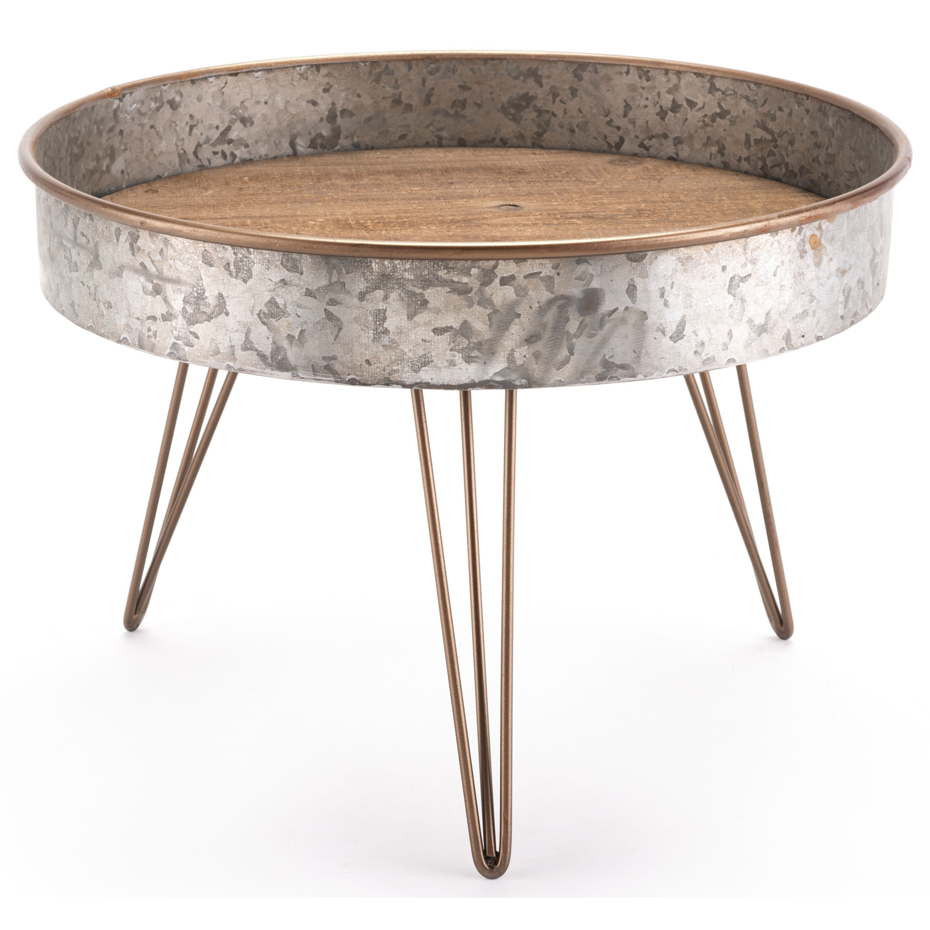 Accent Tables Zinc Round Table Large by Zuo at Nassau Furniture and Mattress