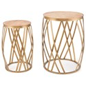 Zuo Accent Tables Criss Cross Set of 2 Tables - Item Number: A10979