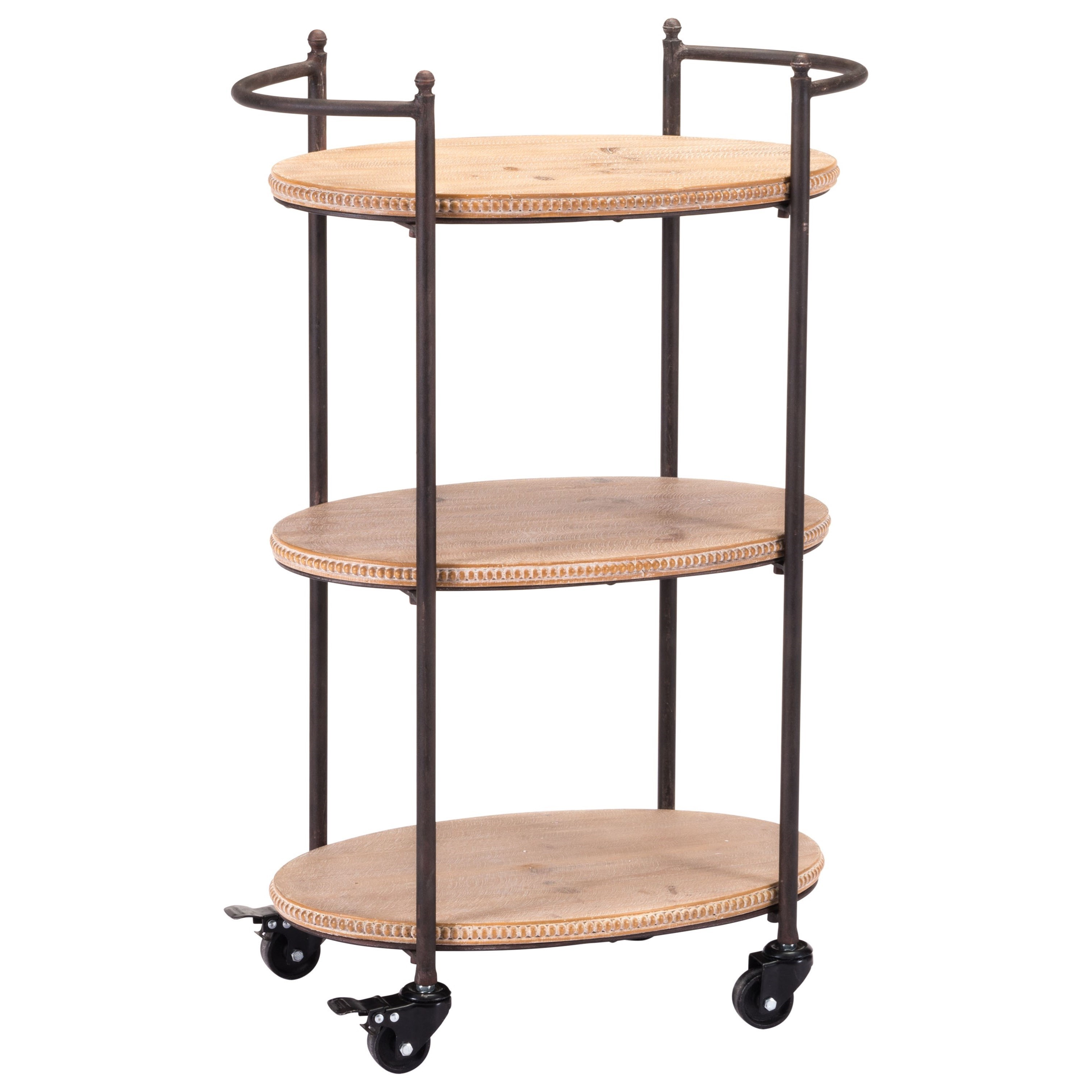 Zuo Accent Tables Tri Level Bar Cart - Item Number: A10992