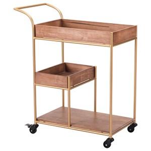 Bar Cart with Tray