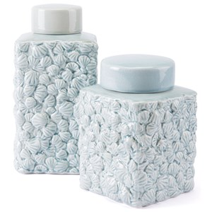 Zuo Bottles and Jars Shells Large Covered Jar
