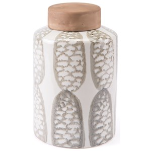 Zuo Bottles and Jars Feather Large Covered Jar