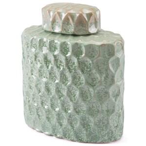 Zuo Bottles and Jars Lattice Medium Covered Jar