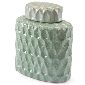 Zuo Bottles and Jars Lattice Small Covered Jar