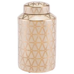 Zuo Bottles and Jars Link Covered Jar Medium