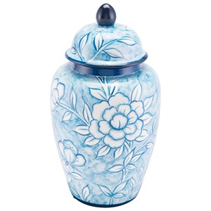 Zuo Bottles and Jars Flower Temple Jar Large