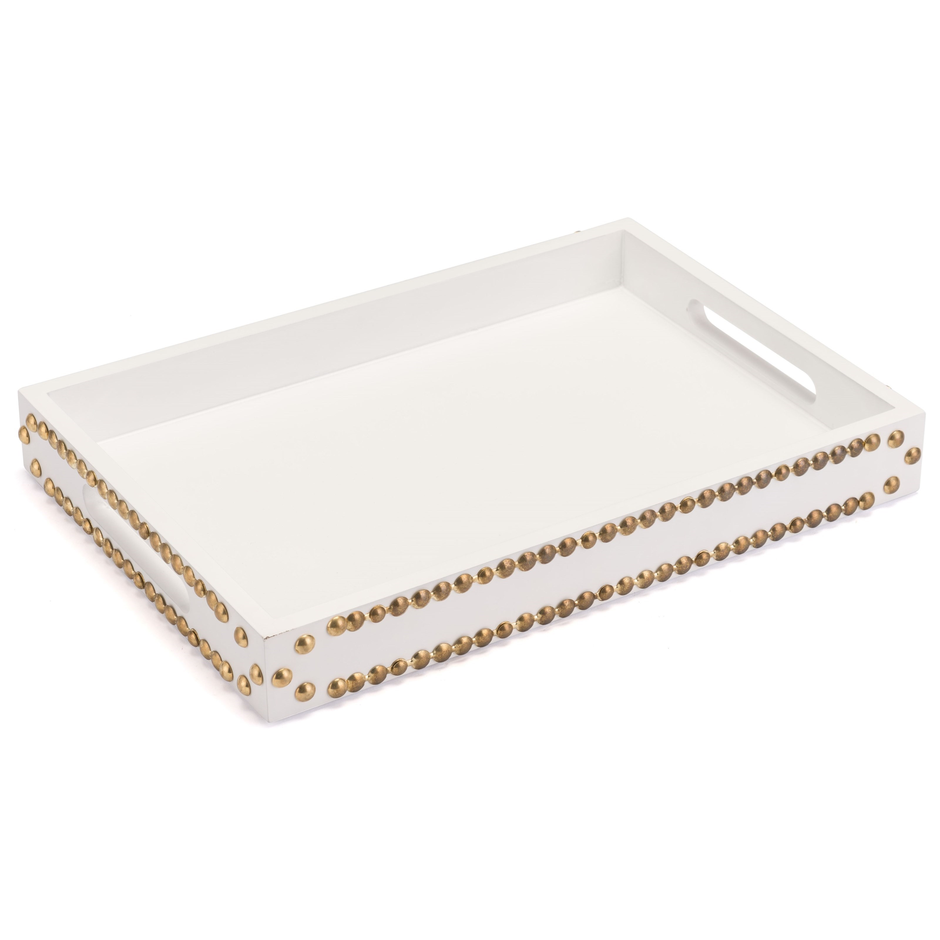 Zuo Boxes, Bowls and Trays Tray with Studs - Item Number: A10357