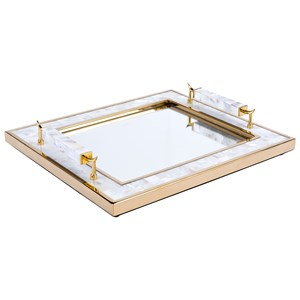 Zuo Boxes, Bowls and Trays Tray with Horn Handle