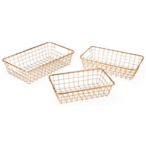 Zuo Boxes, Bowls and Trays Set of 3 Baskets