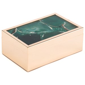 Zuo Boxes, Bowls and Trays Green Stone Box Small