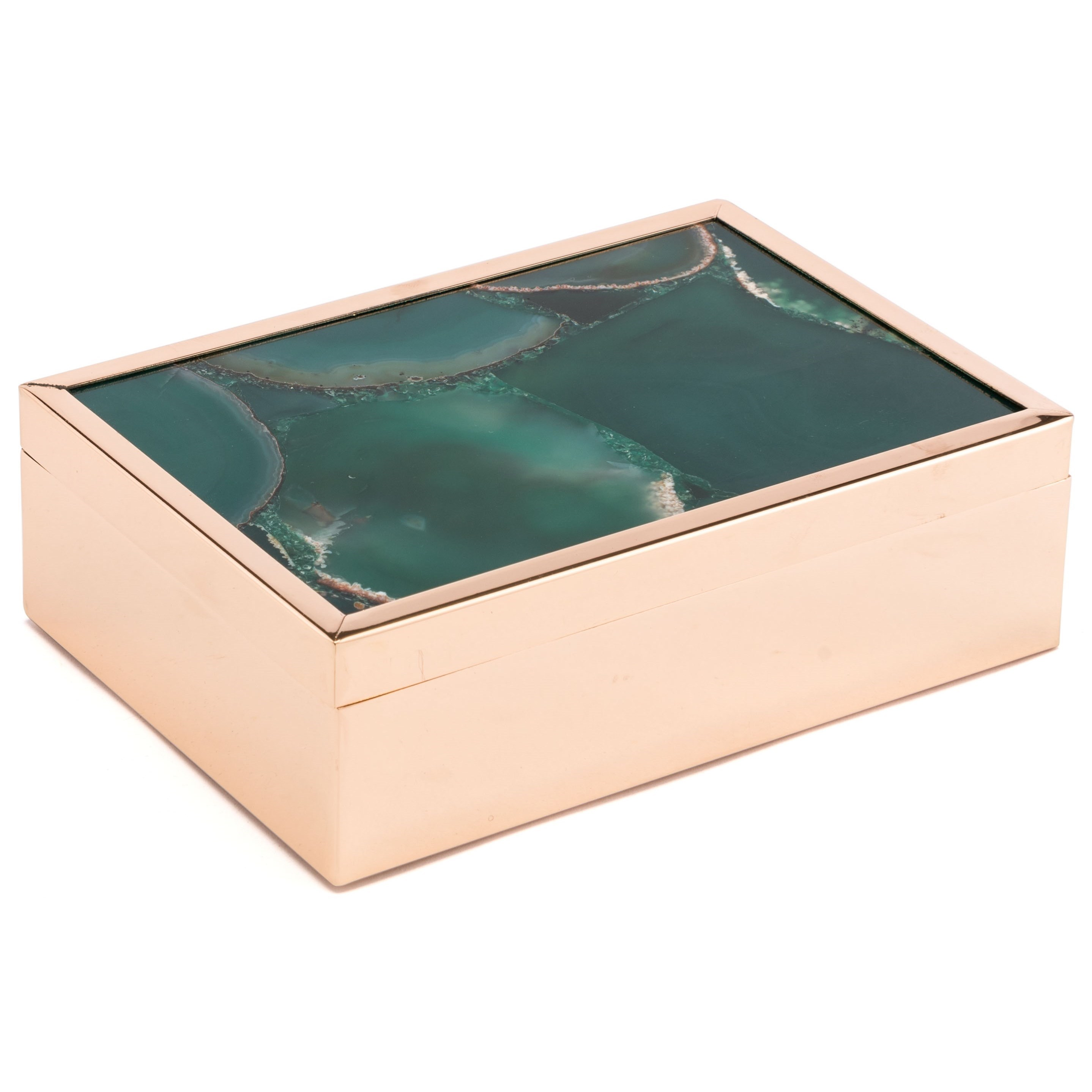 Zuo Boxes, Bowls and Trays Green Stone Box Large - Item Number: A10924