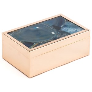 Zuo Boxes, Bowls and Trays Blue Stone Box Small
