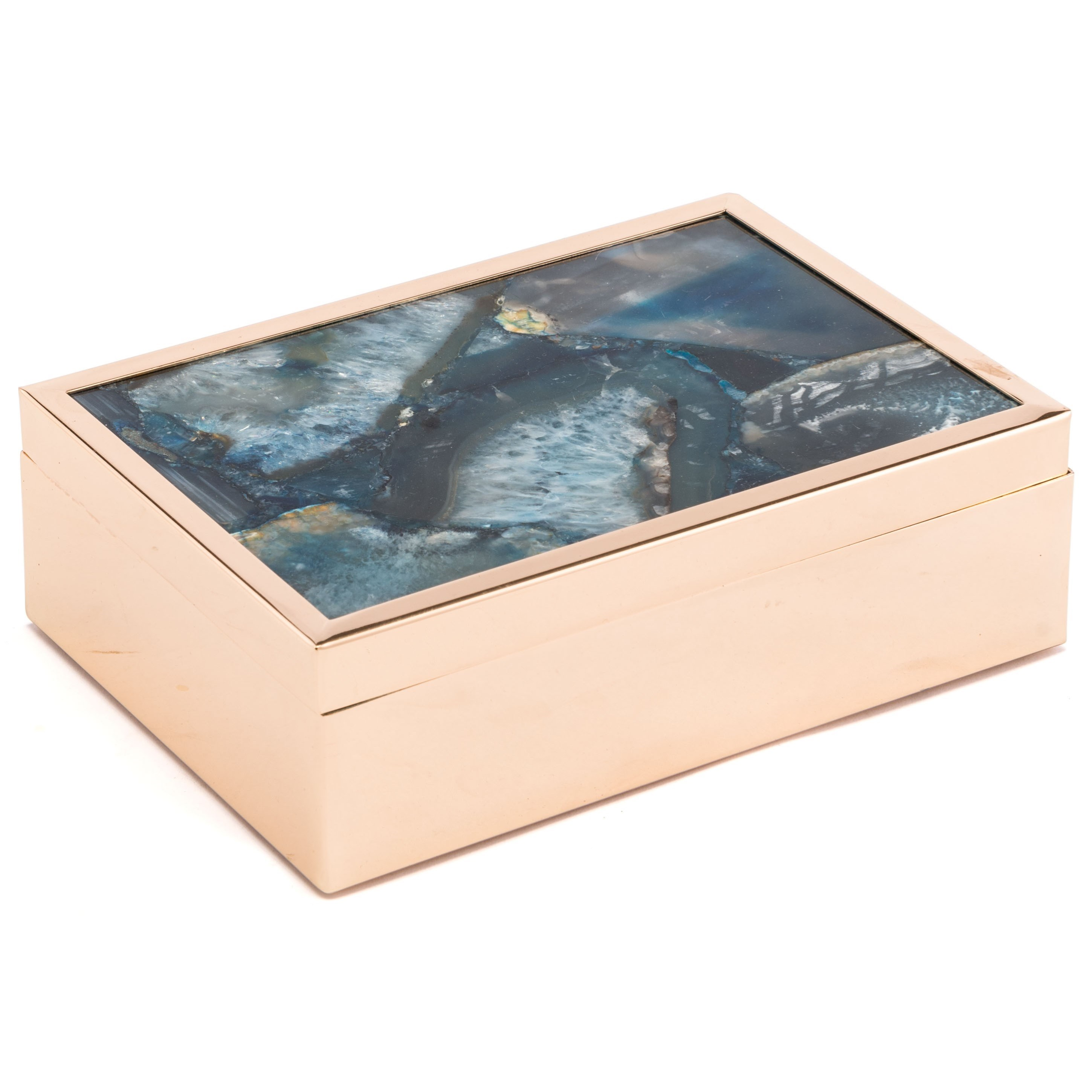 Zuo Boxes, Bowls and Trays Blue Stone Box Large - Item Number: A10926