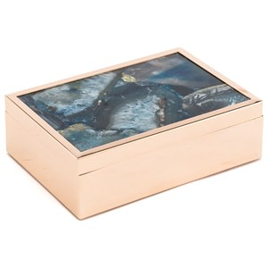 Zuo Boxes, Bowls and Trays Blue Stone Box Large