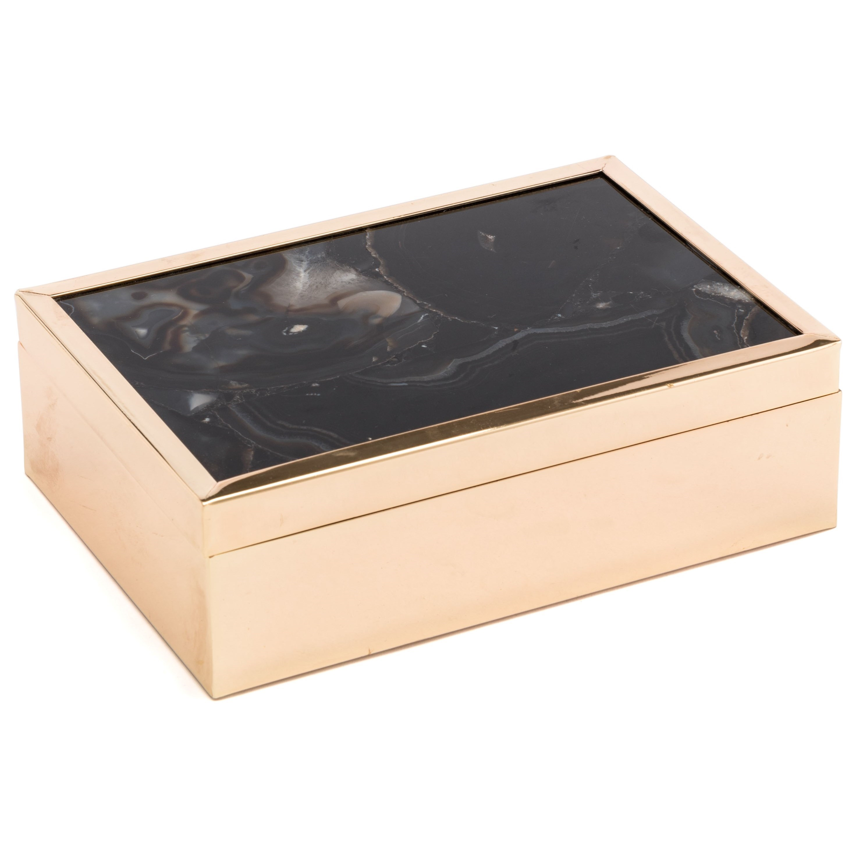 Zuo Boxes, Bowls and Trays Black Stone Box Large - Item Number: A10928
