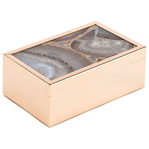 Zuo Boxes, Bowls and Trays White Stone Box Small