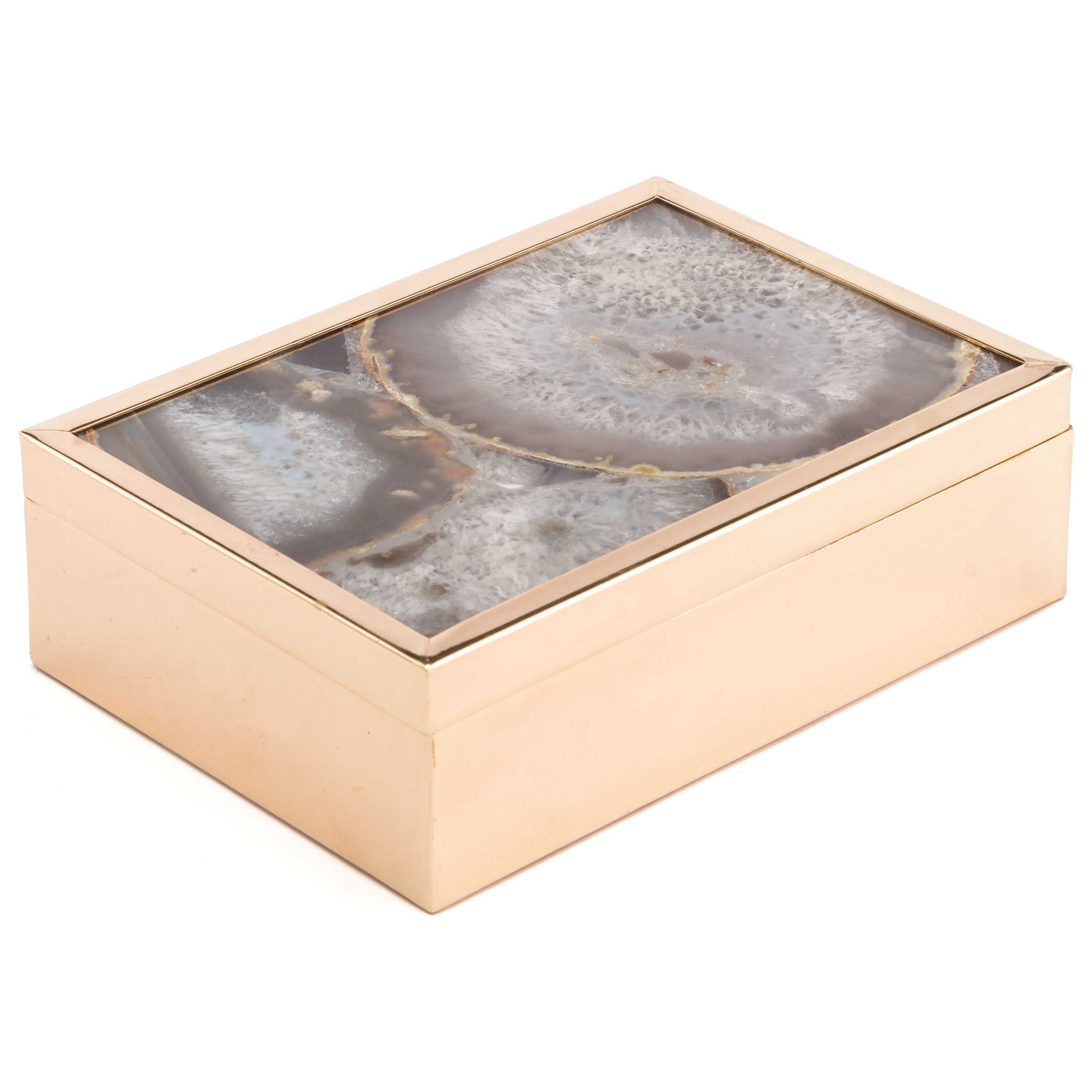 Zuo Boxes, Bowls and Trays White Stone Box Large - Item Number: A10930