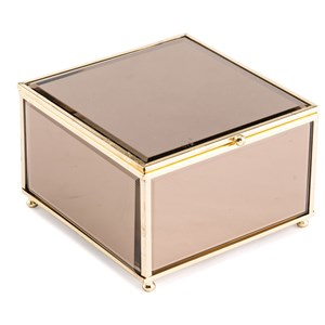 Zuo Boxes, Bowls and Trays Brown Mirror Box Small