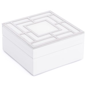 Zuo Boxes, Bowls and Trays White Glass Square Box Small