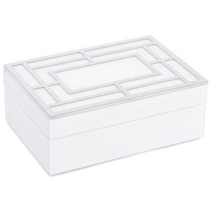Zuo Boxes, Bowls and Trays White Glass Square Box Large