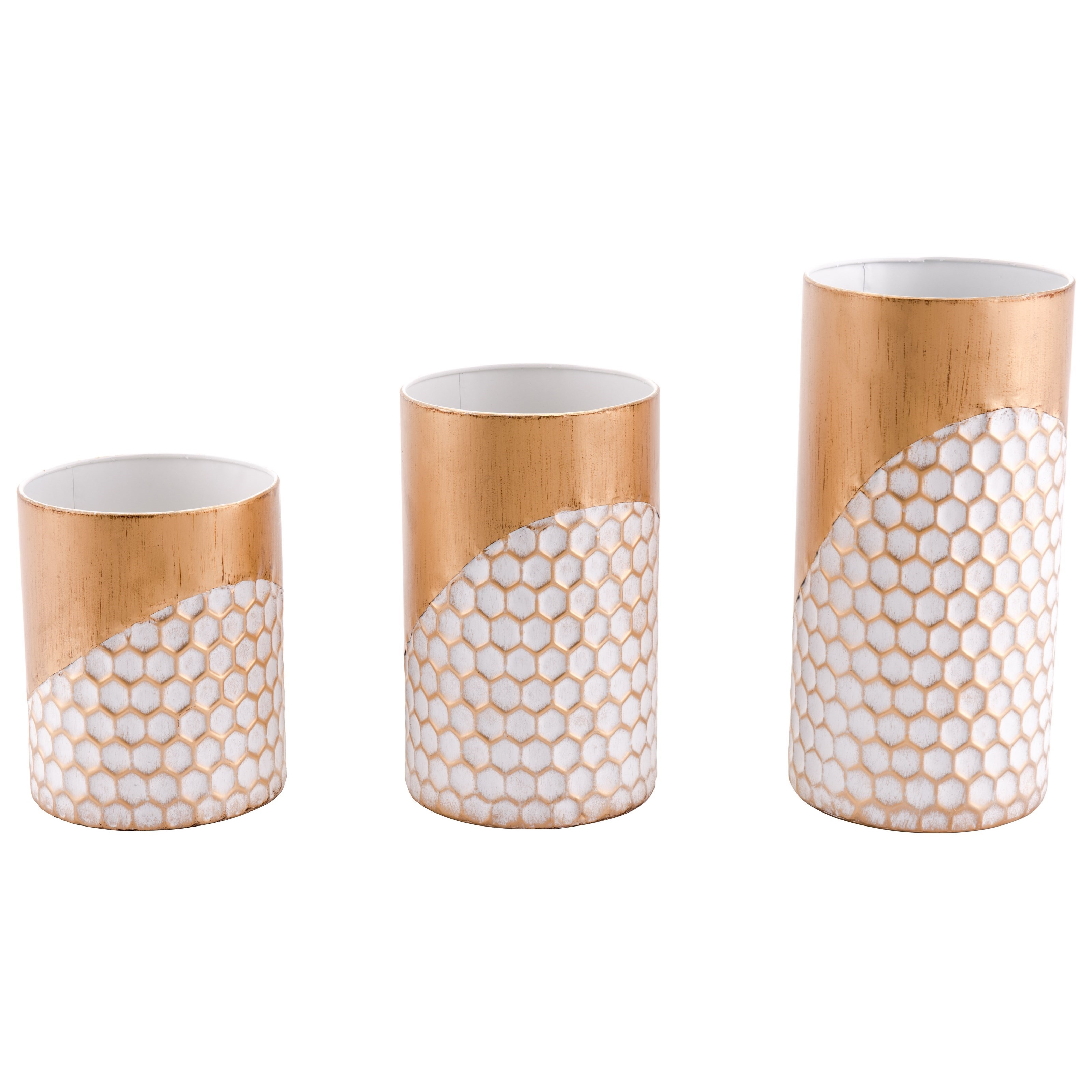 Zuo Candle Holders Honeycomb Set of 3 Candle Holders - Item Number: A10634