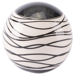 Zuo Figurines and Objects Stripes Medium Orb