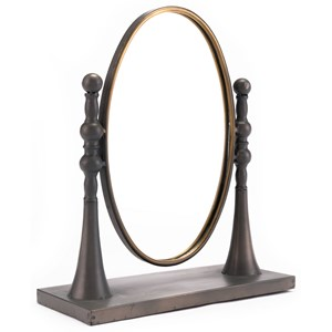 Zuo Figurines and Objects Circle Mirror with Stand