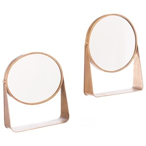 Zuo Figurines and Objects Set of 2 Table Mirror