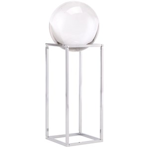 Zuo Figurines and Objects Silver Square Orb Small