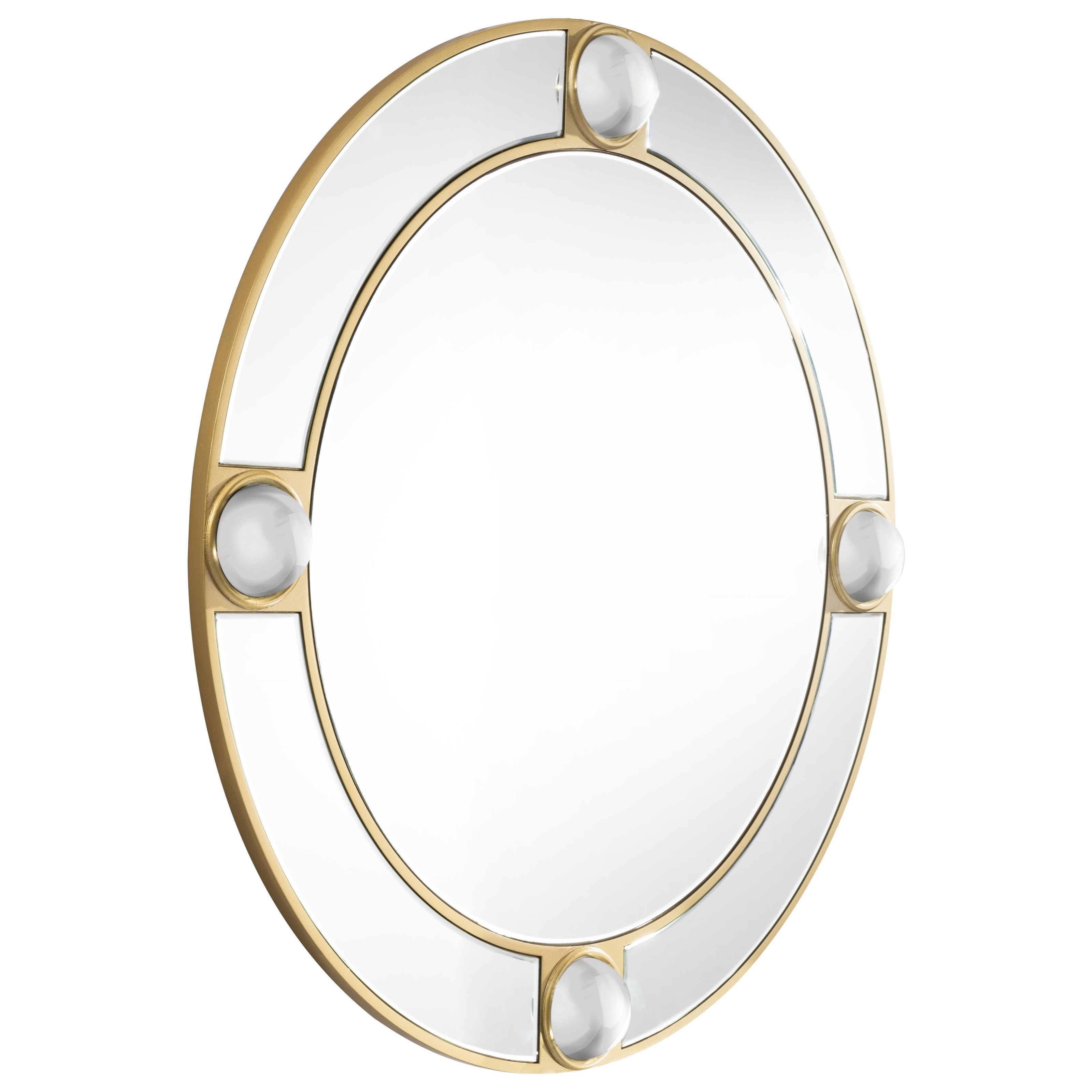 Zuo Mirrors Round Lucite Mirror - Item Number: A10432