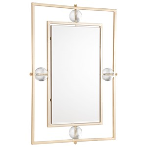 Zuo Mirrors Floating Rectangle Lucite Mirror M & L