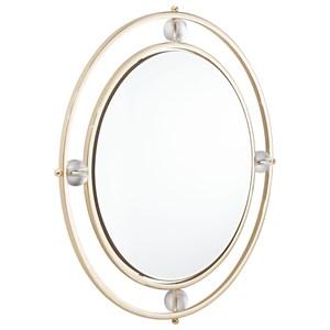 Zuo Mirrors Floating Round Lucite Mirror M & L