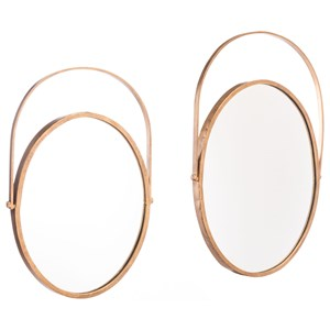 Zuo Mirrors Set of 2 Oval Mirrors
