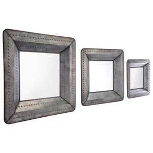 Zuo Mirrors Set of 3 Antique Mirrors