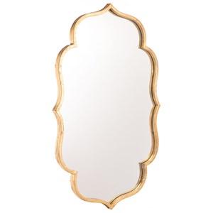Zuo Mirrors Isa Gold Mirror